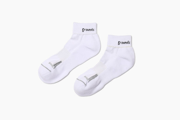 grounds REVERSIBLE SOCKS WHITE GRAY & NEON-ORANGE