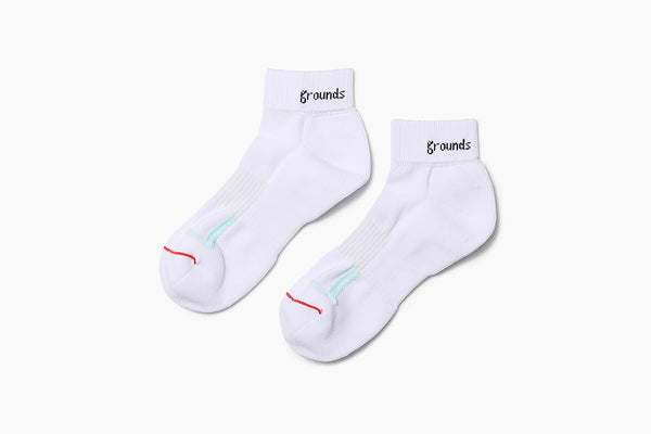 grounds REVERSIBLE SOCKS WHITE RED & MINT