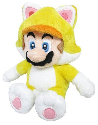 "Super Mario Bros Cat Costume Mario 8"" Plush"