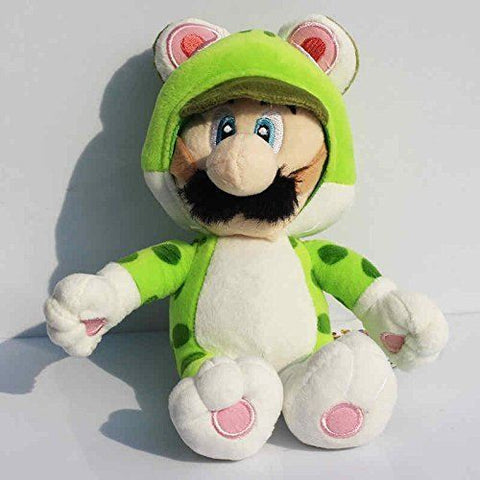 Super Mario 3D World Luigi Cat Neko Green 7 Inch Toddler Stuffed Plush Kids Toys