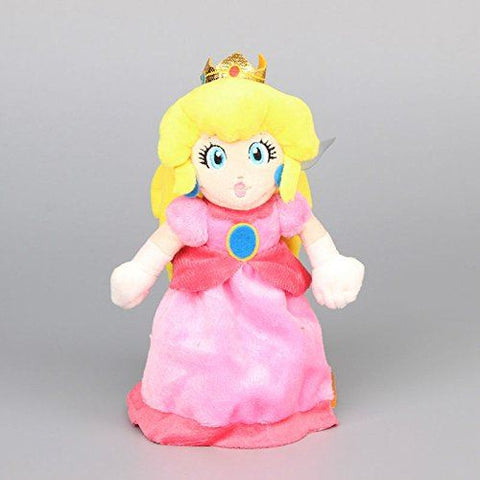 Super Mario Bros Princess Peach 8 Inch Toddler Stuffed Plush Kids Toys