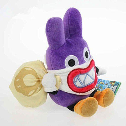 Super Mario Bros Thief Nabbit Rabbit 7 Inch Toddler Stuffed Plush Kids Toys
