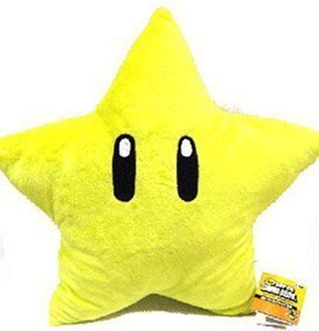 Super Mario Brothers Plush Star 11 Inch Yellow Starman Doll