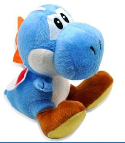 Super Mario Dark Blue Yoshi Plush Doll 10""