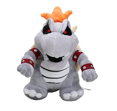 "Super Mario Plush 9"" / 23cm Gray King Bowser Koopa Doll Stuffed Animals Figure S"