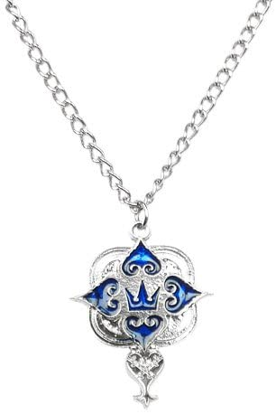 Kingdom Hearts: Blue Series Necklace - Crown & Heartless