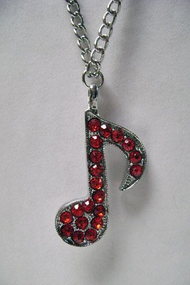 Vocaloid: Costume Necklace Red Music Note Charm