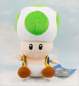 Mario Bro: Super Star Toad 7-inch Plush - Green