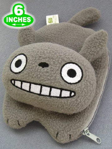 Totoro: Plush Gray Totoro Coin Purse and Wallet