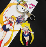 Sailor Moon:  Sailor Moon  with Luna Cat Metal Keychain