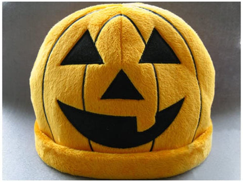 Costume Hat: Halloween Fleece Orange Pumpkin Hat