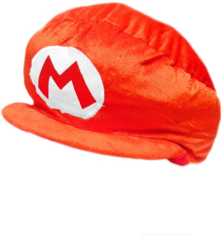 Mario Bro: Plush Cosplay Costume Red Mario Hat Accessory