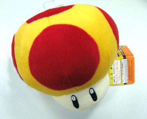 "Nintendo Super Mario Bros.: Mushroom 8"" Plush Doll (YELLOW Mega)"