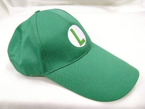 Mario Bro: Green Baseball Cap Luigi Cosplay Hat