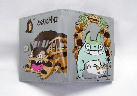 Totoro: Small Brown Classic Totoro Cat Bus Wallet