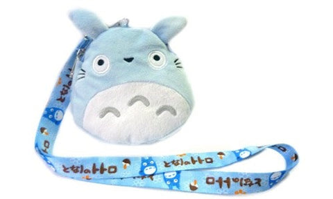 Totoro: 5 inch Plush Mobile Bag with Lanyard - BLUE