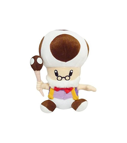 Mario Bro: 10-inch Mushroom Brown Toadsworth Plush Toad Doll