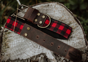 Waxed Red Plaid + Leather