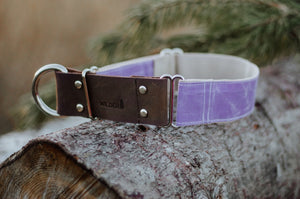 Waxed Cotton + Leather - Lilac