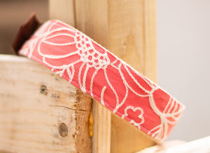 Textured Floral Collar - Coral