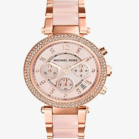 MICHAEL KORS PARKER ROSE GOLD-PLATED CHRONOGRAPH MK5896 WATCH