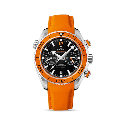 Omega Seamaster Orange Leather Strap Men's Watch