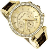 MICHAEL KORS YELLOW GOLD-PLATED CHRONOGRAPH WATCH