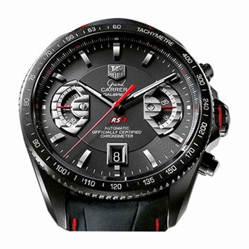 Tag Heuer Carrera Calibre 17 Leather Black Watch