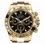 Rolex Cosmograph Daytona Oyster 40 mm Yellow Gold with Black Dial Watch