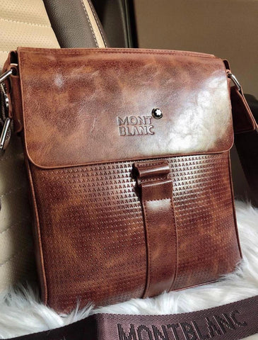 Mont Blanc Tan Sling Bag