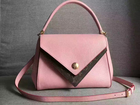 LOUIS VUITTON PINK LEATHER HANDBAG