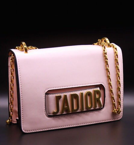 J'ADIOR Dior Pink Leather Handbag