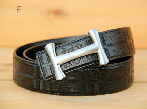 Hermes Black Leather Belt