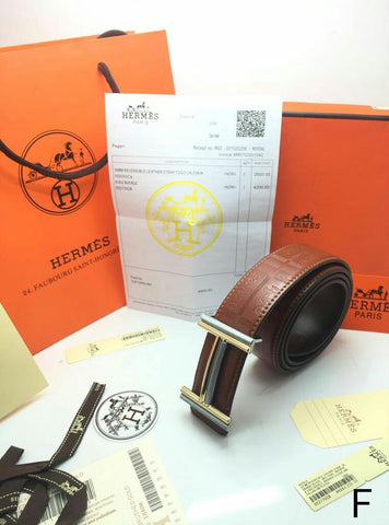 Hermes Tan Leather Belt