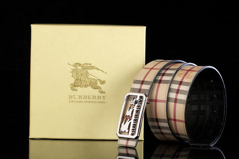 Burberry Silver Buckle Belt