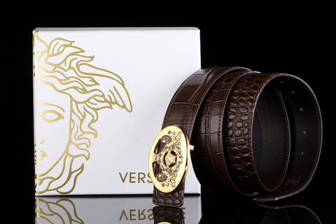 Versace Brown Leather Belt
