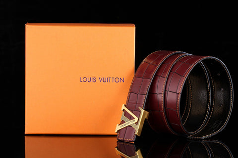 Louis Vuitton Brown Leather Belt