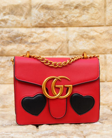 Gucci Red Colour Leather Sling Bag