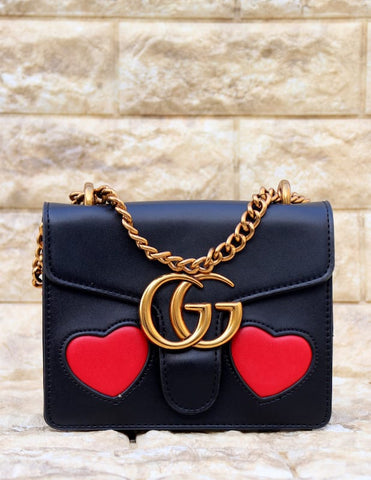 Gucci Black Colour Leather Sling Bag