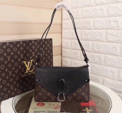 Louis Vuitton Brown Leather Sling Bag