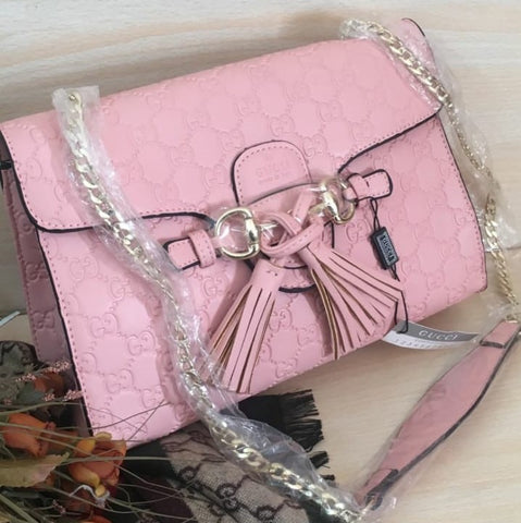 Gucci Pink Leather Handbag
