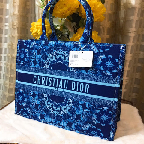 Christian Dior Blue Leather Handbag