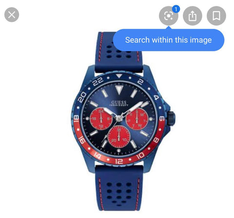Guess Mens Blue Watch