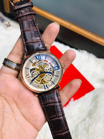 Cartier Brown Strap Watch