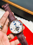 Cartier Leather Strap Watch