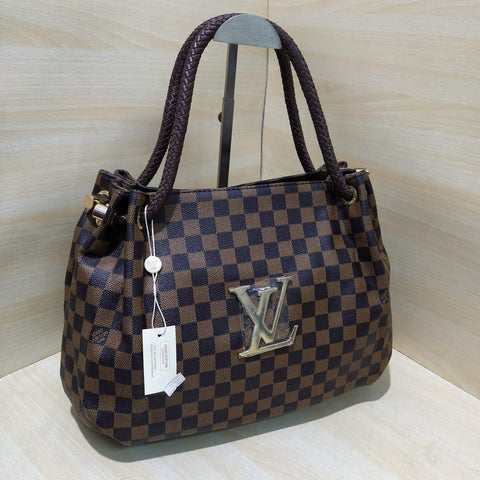 Louis Vuitton Check Leather Handbag