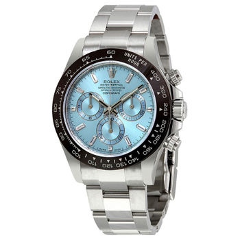 Rolex Cosmograph Daytona Oyster 40 mm Silver with Blue Dial Watch