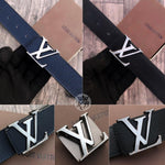 Louis Vuitton Leather Mens Belt Set of 2