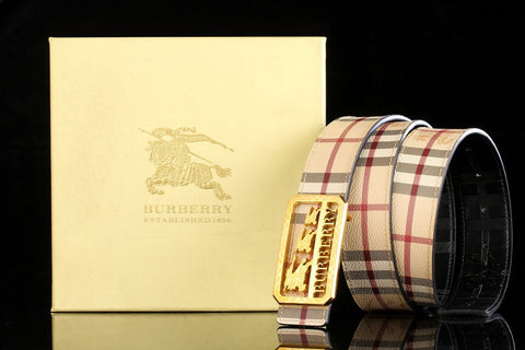 Burberry Leather Mens Belt