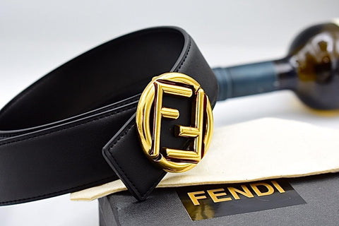 Fendi Leather Mens Belt